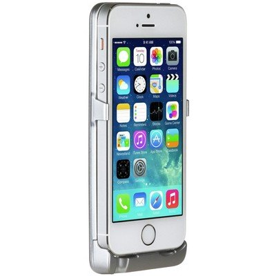 Чехол-аккумулятор Spigen MetPower для Apple iPhone 5/5s Серебристый
